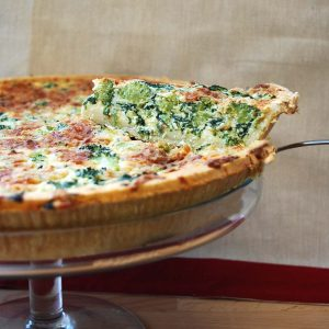 Broccoli & Spinach Quiche