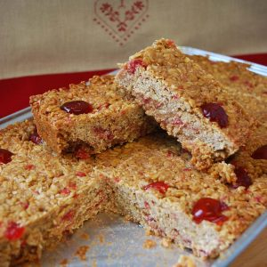 Cherry & Coconut Flapjack Tray