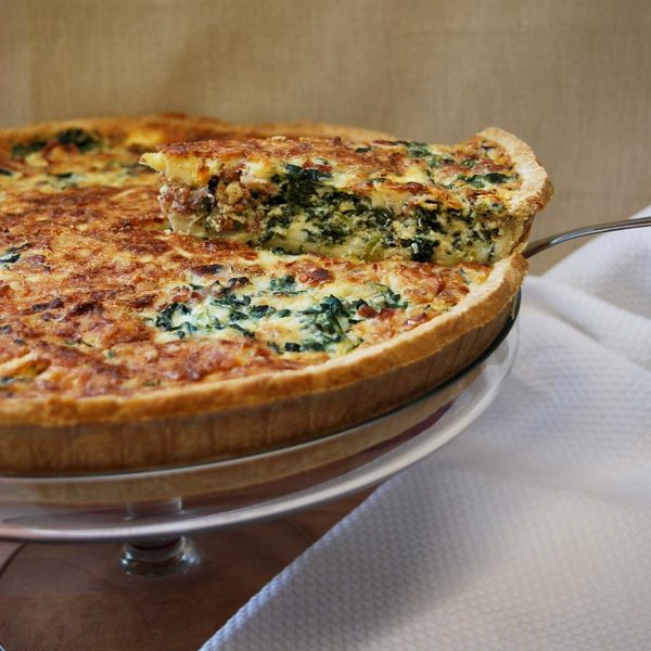 Crispy Bacon and Spinach Quiche