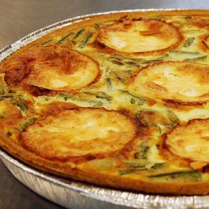 Goats Cheese Asparagus Quiche