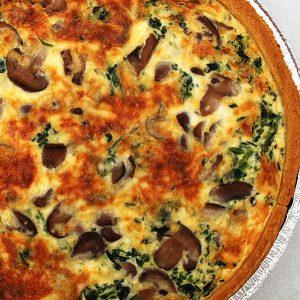 Mushroom & Spinach Quiche