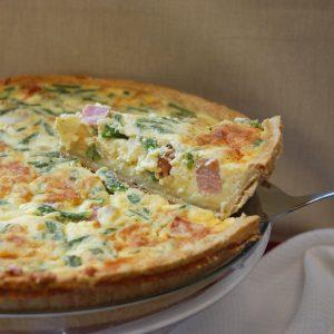 Ham & Asparagus Quiche