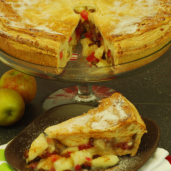 Apple Cherry and Sultana Pie