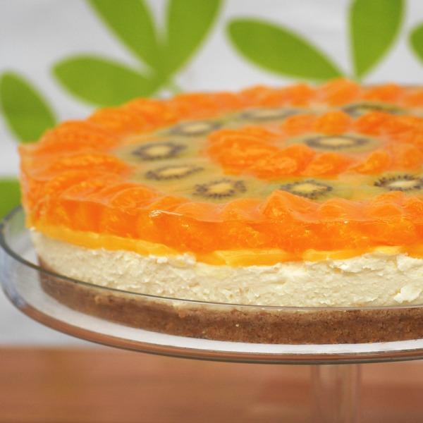 Kiwi and Mandarin Cheesecake