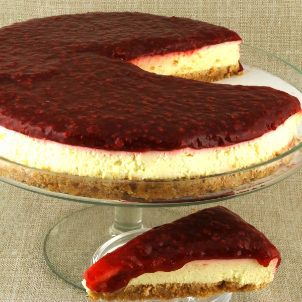Raspberry Preserve Cheesecake