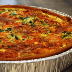 Smoked Salmon Spinach Quiche