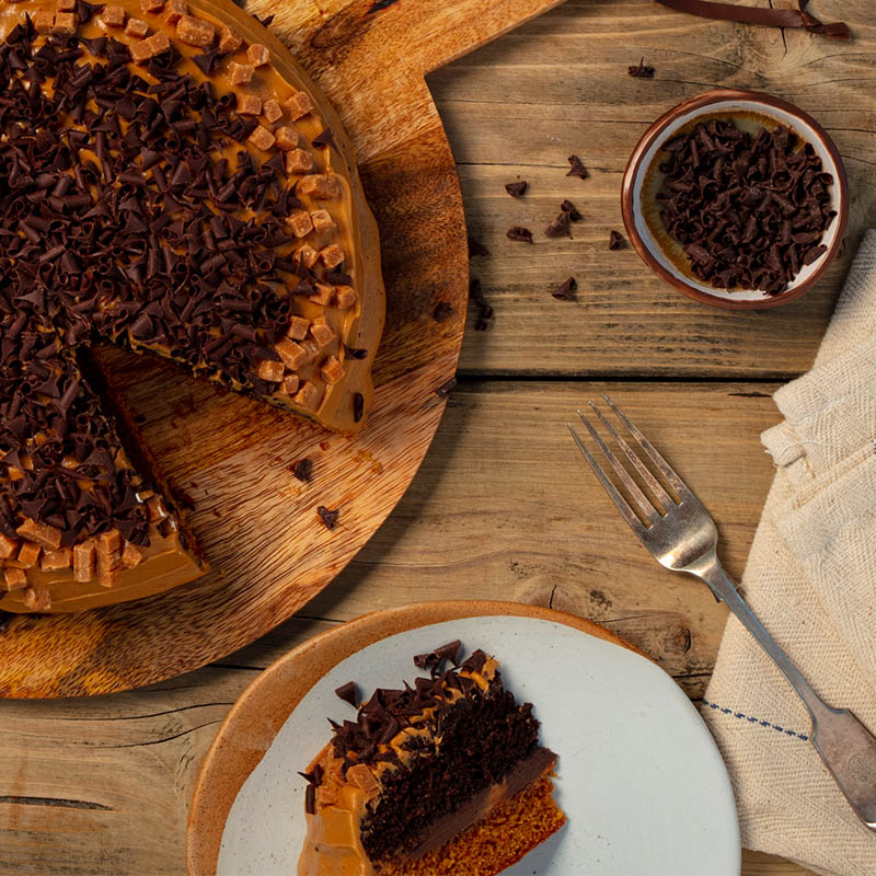 Toffee & Chocolate Gateau