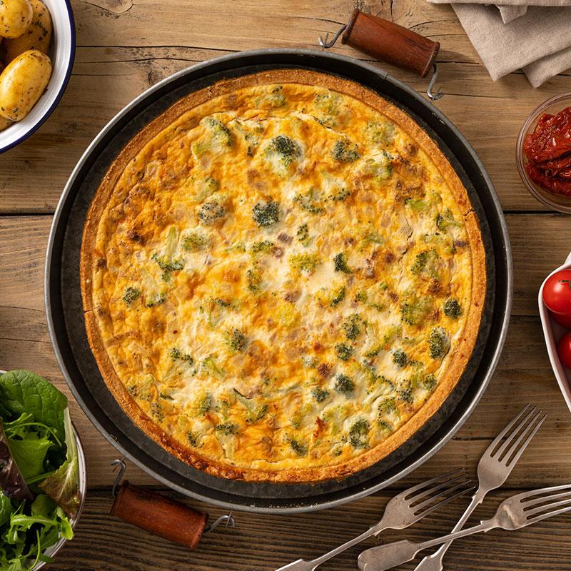 Broccoli & S/D Tomato Quiche