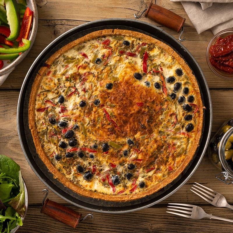 Mediterranean Vegetable Quiche