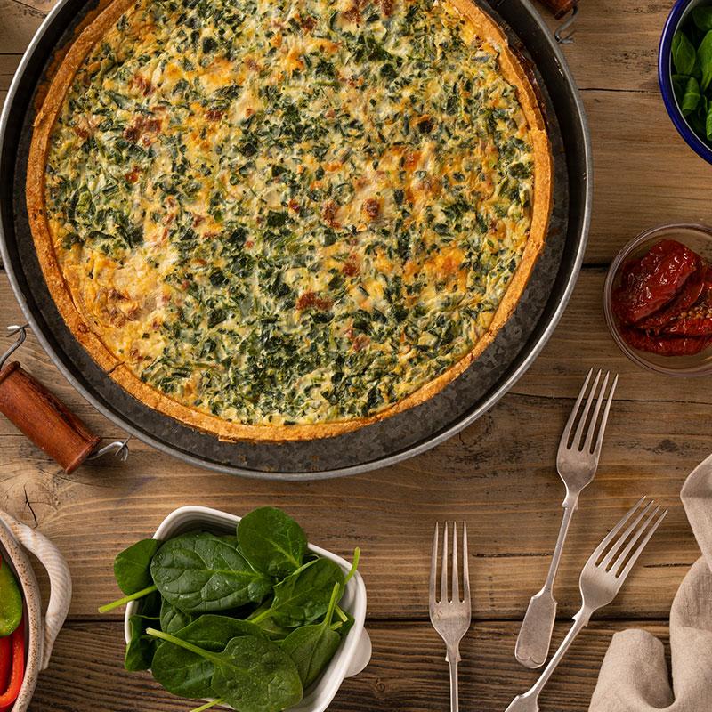 Spinach & S/D Tomato Quiche